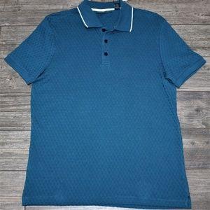 Perry Ellis Shirts - $49.50 Perry Ellis Check Jacquard Polo Shirt Blue